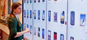 Borne interactive aide au choix consommateur