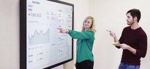 Borne tactile mesure satisfaction client